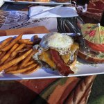 Cheeseburger with Egg and Bacon