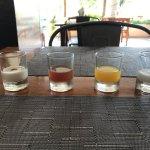 sampler of drinks