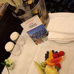 Our travel agent surprised us with a fruit plate and Japanese beers upon our arrival.