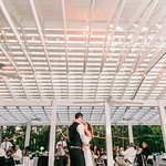 Country Villa Outdoor Wedding reception