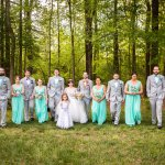 Beautiful outdoor shots of wedding parties