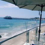 Amazing lunch with the best ocean view in Malibu