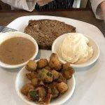 Meatloaf w/Mashed Potatoes & Okra