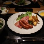Our Western style breakfast for day 2 (they served us a Japanese style breakfast for day 1).