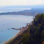 View of the coastline and Giardini