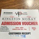 Admission voucher to Club Mobay