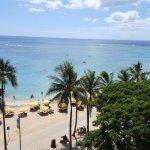 Balcony view of ocean/beach