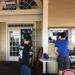 Water Street Grille, Yorktown, VA, 9-10-17 patio area, waiters