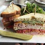 Water Street Grille Monster Club Sandwich $15 (9-10-17) & Salad