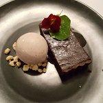 Chocolate and Salter Caramel Tart - yum!
