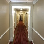 Attractive hallway to the guest rooms.