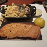 Salmon with Truffle Mac'n cheese substituted for the rice