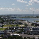 The view from the top, looking south along Long Beach Island