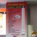 the sauce menu