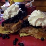 honey bun french toast with blueberries