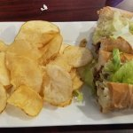 Steak and cheese with chips