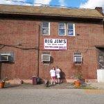 Outside Big Jim's with doggie bag