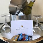 Nightly Wine Hour in our lobby from 5 PM to 6 PM.