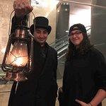 "the tour guide, or ""ghost walker,"" carries a real kerosene lantern. v cool."
