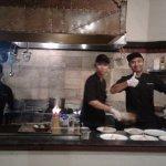 The beautiful kitchen staff at La Cascata