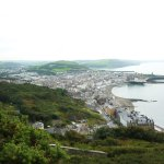 Aberystwyth from the top of the funicular railway.