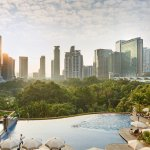 Infinity Edge Swimming Pool overlooking KLCC Park
