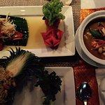 Pineapple Rice, Red Curry with SeadFood, Papaya Sald