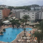 View of the pool from rooftop