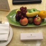 Fruit Plate at arrival