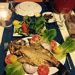 Evening grilled fish in this friendly restaurant