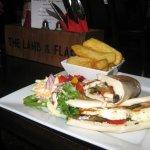 Mozzarella Panini with salad and chunky chips