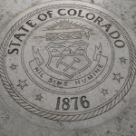 Numerous State Seals adorn the walkways.