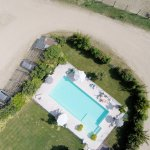 A drone view of the pool