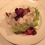 Wedge with blue cheese and smoked bacon salad