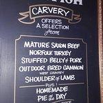 Carvery menu choice