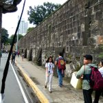 1-Meter Thick Walls. Numerous students from schools within Intramuros are seen on walkways.