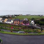 Panorama: view of Doolin from the deck.