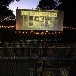 The deck chair cinema bit!