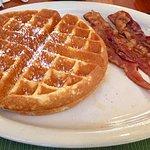 Belgium Waffle and Bacon