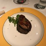 Filet mignon topped with foie gras!