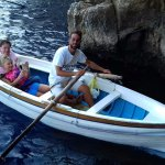 Must lie down in boat to enter the Blue Grotto - we are entering