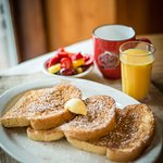 French Toast, coffee and OJ. What could be better!!!