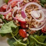 Try our delicious strawberry salad for lunch