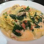 Seafood Pappardelle.