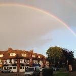 Rainbow seen from Tealicious doorway
