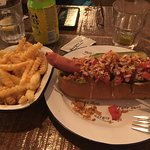 Hot dog and 'poutine' fries