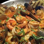 Brodetto - classic dish from the seaside town of Fano, Italy