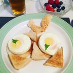 The fabulous poached eggs :)