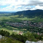 View of Oberammergau from Kofel mountain