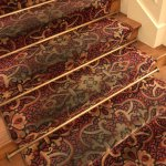 Stair carpet in reception.